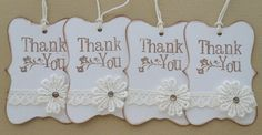 Lace, Vintage, Shabby Chic Thank you gift tags...can be personalized