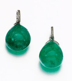 Pair of Emerald Earrings, early 20th Century | Sotheby's