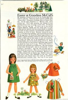 Vintage March 1967 Magazine Paper Doll Betsy McCall Easter at Grandma McCall's