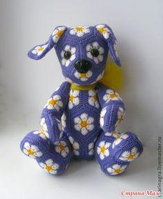 Начинаем вязать еще одну замечательную игрушку цветочных мотивов автора этого щенка можно увидеть здесь http://www.livemaster.ru/