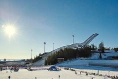 Could you stay at the top of a ski jump?!