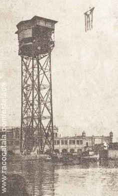 Estelada al port de Barcelona l'Onze de Setembre de 1944 per militants del Front…