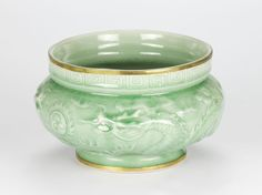 "Antique style Chinoiserie Celadon Green Dragon Relief Hand glazed Pot 19cm 7.5"" #Chinoserie #celadon #celadongreen #orientalpot #chinoisforliving"