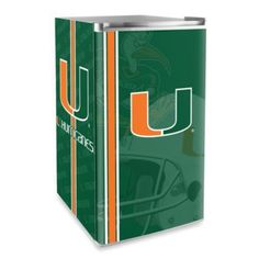 University of Miami Licensed Counter Height Refrigerator - BedBathandBeyond.com