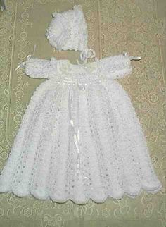 Christening Gown free crochet pattern