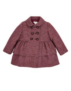 BABY GIRLS PENNY PURPLE TWEED COAT http://www.parentideal.co.uk/monsoon--baby-girls-coat.html