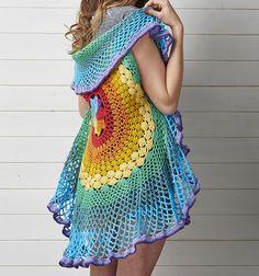 Ravelry: Rainbow mandala waistcoat pattern by Sara Huntington