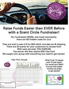 Scentsy Scent Circle Fundraiser ideas Contact me if you are interested in doing a fundraiser!