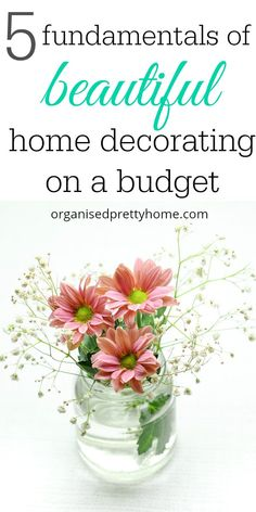 Whether you are living in a rental house or buying your own home, here's 5 ways to decorate on a budget! // Organised Pretty Home << #homedecor