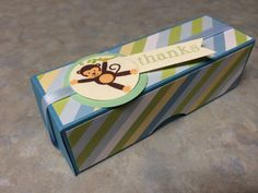 Monkey Sweet Treat Box. Great for a baby shower thank you gift or use as table decor. Creation By Christina, March 2014