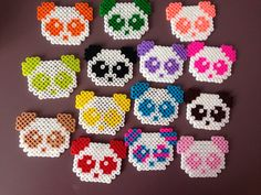 Perler bead pandas made by the wonderful me
