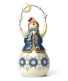 Look what I found on #zulily! Jim Shore Snowman With Moon Figurine by Jim Shore #zulilyfinds