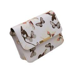 Floral Print Leather Shoulder Hand Bag