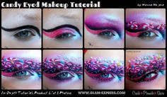 #Candy #Eyes #Makeup #Tutorial #fun #whimsical #art More tutorials & join our community at: http://www.glam-express.com/profiles/blogs/candy-eyed