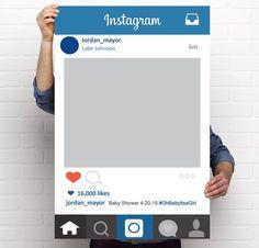 printable instagram photo frame prop photo booth wedding birthday corporate event
