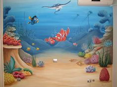 Παιδικό Δωμάτιο - Dream-art.gr - Ζωγραφική παιδικών δωματίων  Βυθός Nemo_Περιστέρι