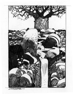 Sergio Toppi - one of my favorite comic book artist and an awesome illustrator.