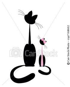 Vetor - gato, gatinho - estoque de ilustração, ilustrações royalty free, banco de ícone clip arte, banco de ícones clip arte, fotos EPS, fotos, gráfico, gráficos, desenho, desenhos, imagem vetorial, arte vetor EPS.