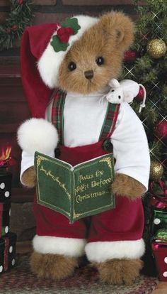 "Bearington Bears - Christopher Christmouse 14"" Christmas Bear"