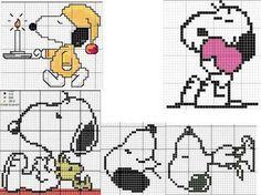 Schema punto croce Snoopy
