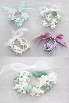Flower jewelery.  A new corsage alternative I created.