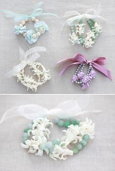 Flower jewelery.  A new corsage alternative I created.