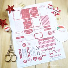 Peppermint Stick Planner Stickers - Free Printable