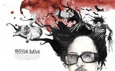 Tim Burton for D2. Layout and illustrations by Esra Røsie.