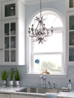 Crystal Chandeliers in Kitchens