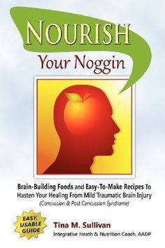 Nourish Your Noggin: Brain-Building Foods & Easy-to-Make Recipes to Hasten Your Healing From Mild Traumatic Brain Injury (Concussion & Post Concussion Syndrome) by Tina M Sullivan, http://www.amazon.com/dp/1432778951/ref=cm_sw_r_pi_dp_XvEarb0G9JJF3