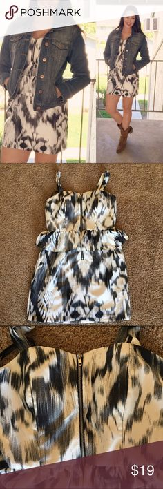🌨Super cute peplum dress🌨 Amazing dress, if it fit me better I'd love it! From the shoulder to the bottom it's about 34 in. A great marble-looking print. A working zipper on the bust. Worn once- and in great shape. Size 10 and true to size. Bust is about 37 inches around. Charlotte Russe Dresses