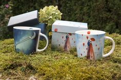 Trend Mug Gift Box Chasing The Moon + Trend Mug Gift Box Good Morning  #ppd #paperproductsdesign #mystic #design #art #catrin #welzstein