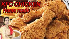 KFC CHICKEN HOME MADE/HOW TO MAKE KFC FRIED CHICKEN IN TAMIL - YouTube Fried Chicken, Tandoori Chicken, Chicken Home, Kulfi, Fries, Easy Meals, Pumpkin, Tasty, Stuffed Peppers