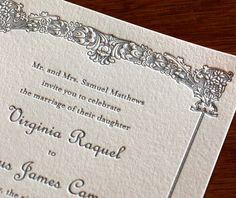 virginia letterpress wedding invitation by invitations by ajalon