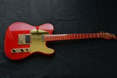 BILL LAWRENCE TELE MADE IN JAPAN TRANSLUCENT RED BODY/NECK