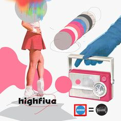 High Five / Risso (리소) - genie Collage Design, Art Design, Cd Artwork, Cd Cover Design, Poster Text, Photo Images, Fashion Collage, Illustrations And Posters, Art Fair