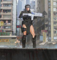 ArtStation - Ghost in the Shell - Major's Tactical and Thermoptics, Maciej Kuciara