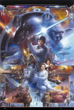 Amazing Star Wars movie art posters This is awesome!!!