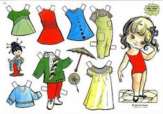 Paper Dolls - (CL for 15 dolls & clothes) #P-1-15