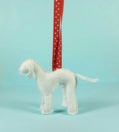 Hey, I found this really awesome Etsy listing at https://www.etsy.com/ca/listing/258154506/bedlington-terrier-ornament-felt-dog-dog