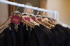 glittery bridesmaid dress hangers   Alisha Crossley