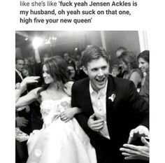 And Jensen just looks stoked to be married to someone as awesome as her
