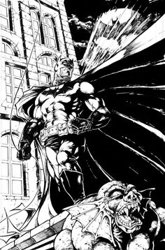 The_BATMAN_Gotham_Gargoyle_Original_Artwork_11_17_inch_comic_artboard