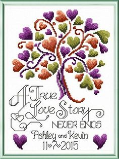 Love Story Wedding - cross stitch pattern designed by Ursula Michael. Category: Wedding.: