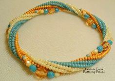 twisted herringbone - I like the embellishments