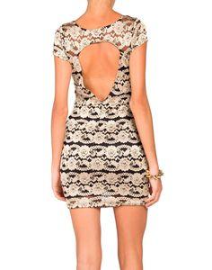 Peep Back Lace Dress