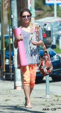 "Vanessa Hudgens wearing our ""Center of the Universe"" by ""Mochila Bag Addixion"" in LA"