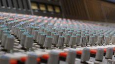 Mixing board at Teldex Studio.