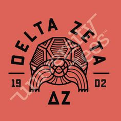 Loving this geometic turtle for Delta Zeta! | Made by University Tees | www.universitytees.com