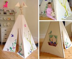 ... on the traditional children's teepee at the Kids.modern show